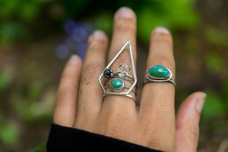 Turquoise stacker Crystal Cactu - starstrungjewelry | ello