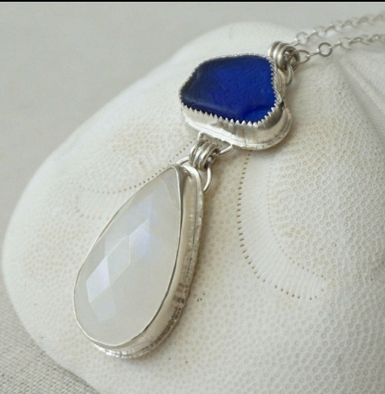 Cobalt blue sea glass faceted m - cjsseashop | ello