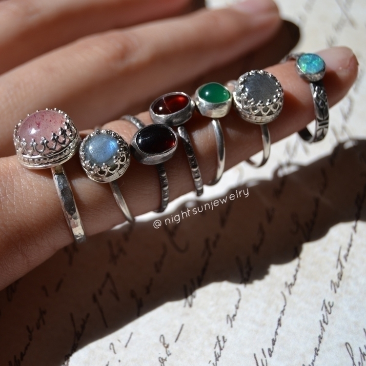 Rings remake. Gemstones include - nightsunjewelry | ello