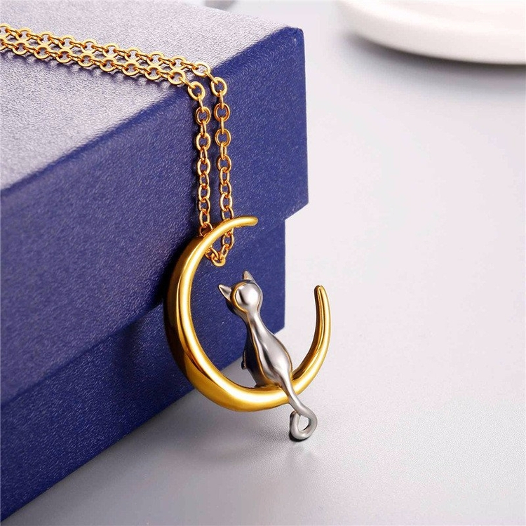 Moon Cat Gold necklace - mysuitableshop | ello