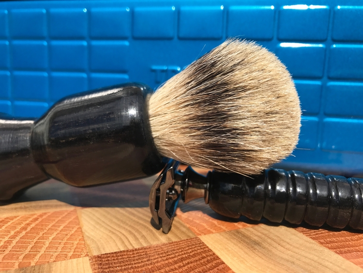 Gaboon Ebony Brush Razor. brush - hardwoodshavings | ello