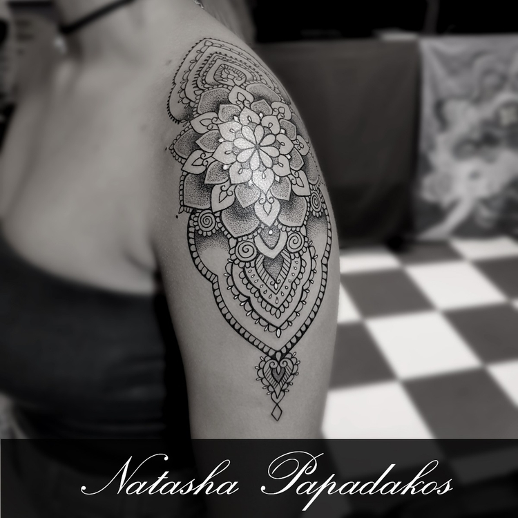 fun shoulder piece - tattoo, tattoodesign - natashapapadakostattoo | ello