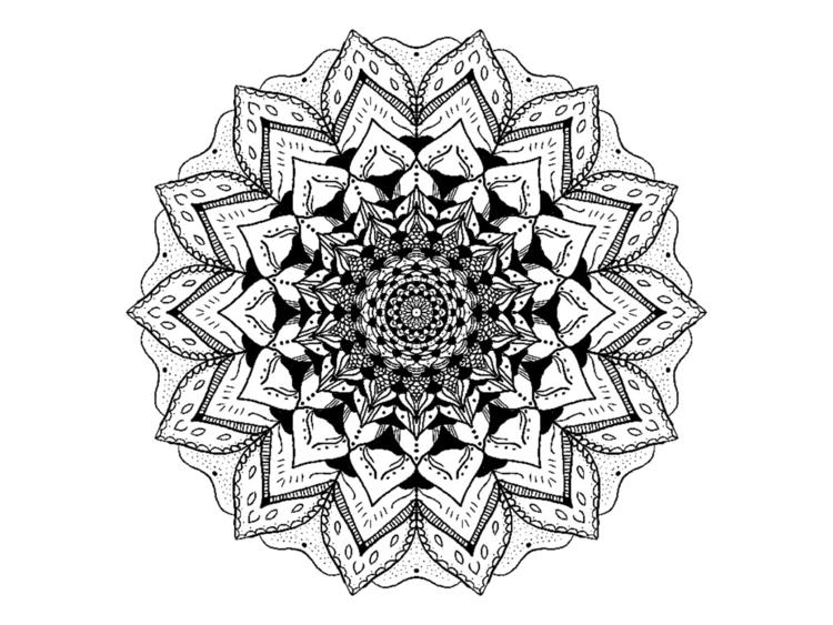 Mandala print. shop. sunburntal - sunburntaloe | ello