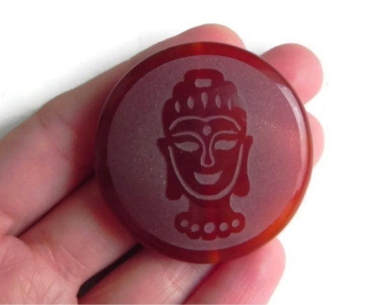 Coin shape Buddha focal bead#ma - dnagems | ello
