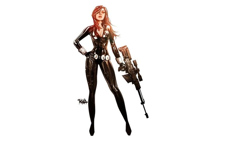sexy, redhead, blackwidow, sniper - ukimalefu | ello