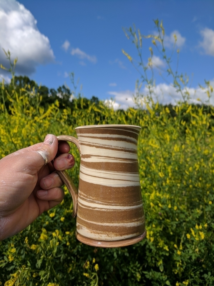 Mug sitting pretty hayfield - 2. - hillippieclayco | ello