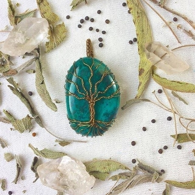 Chrysocolla tree goddess! Find  - thecitrineforrest | ello
