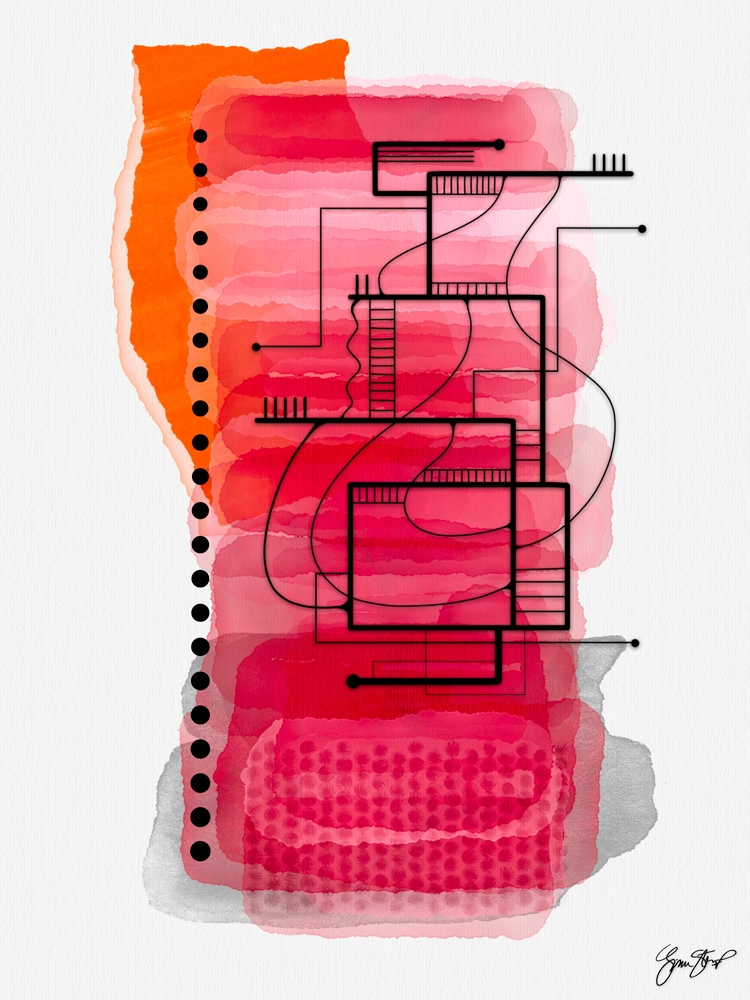 Red House - abstractart, mixedmedia - ginastartup | ello