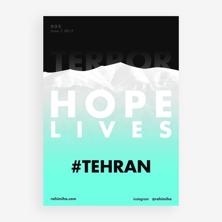 Sad day city.  - Tehran, Iran, terroristattack - rahimiha | ello
