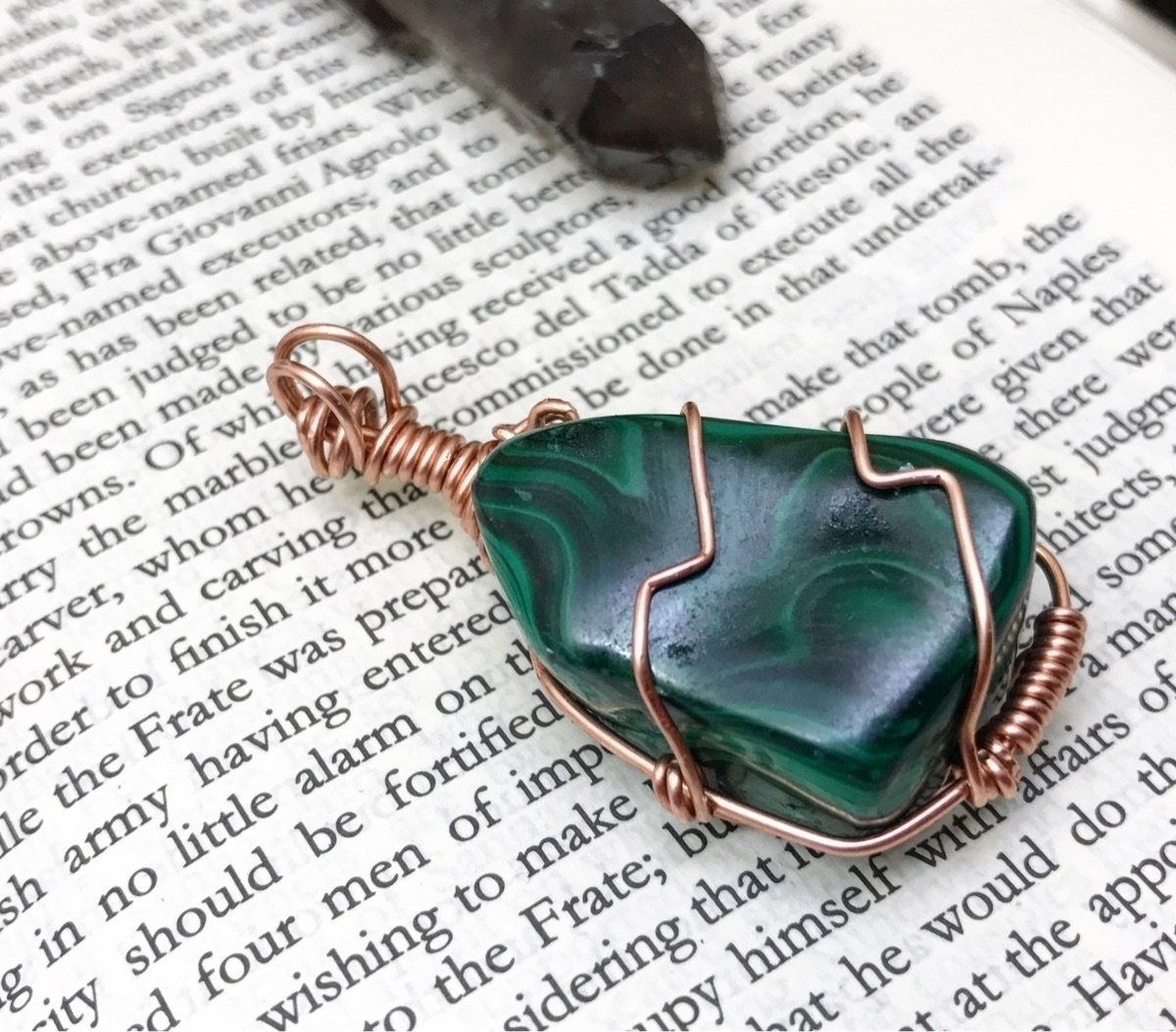 Simple Malachite wrap custom or - twistedleafstudio | ello