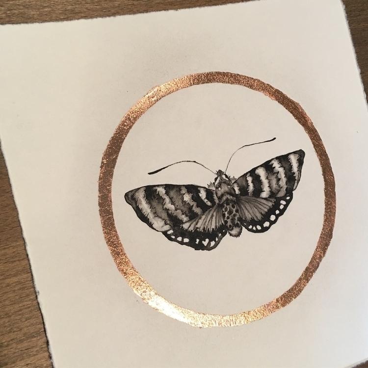 sold. leaf - moth, copper, copperleaf - alexakarabin | ello