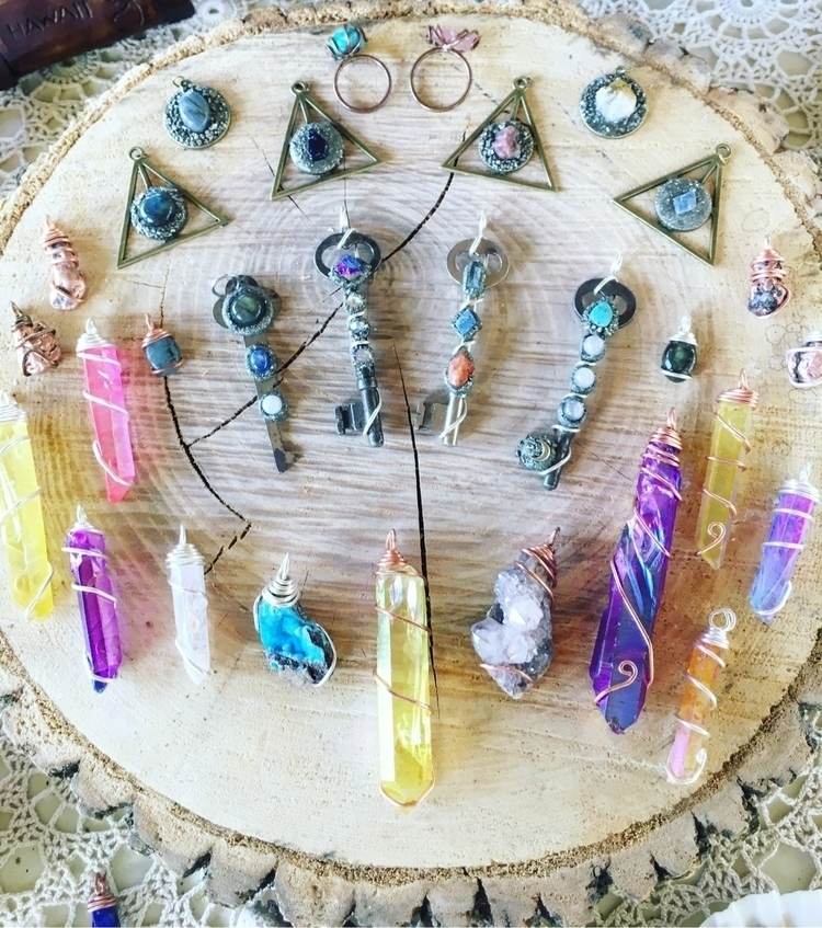 Crystals keys - rainbow, crystals - mermaidtearshawaii | ello