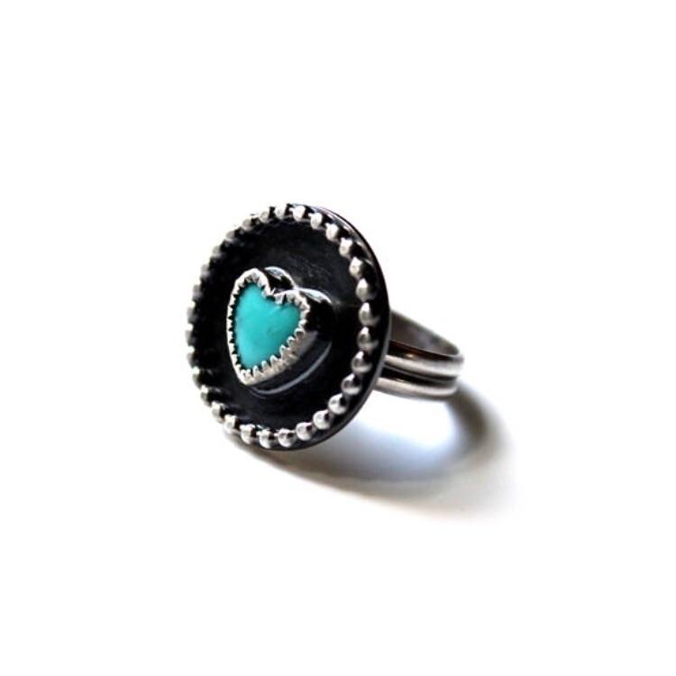 Kingman turquoise heart sterlin - gugmajewelry | ello