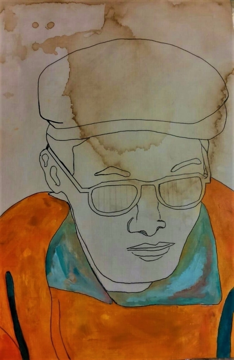 Orange sweater ///// ink oil co - guiart | ello