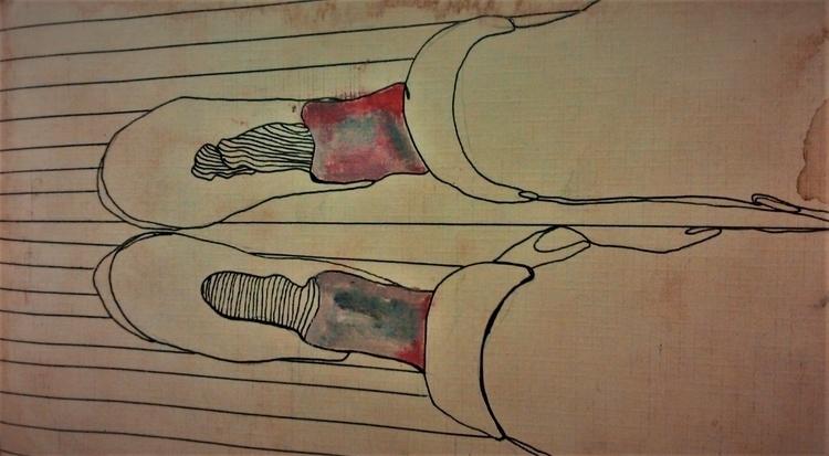 Spacial socks ////// ink coffee - guiart | ello