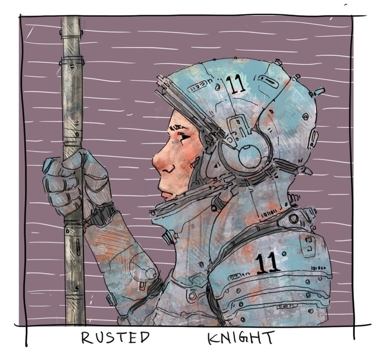Rusted Knight_11 - illustration - okipokie | ello