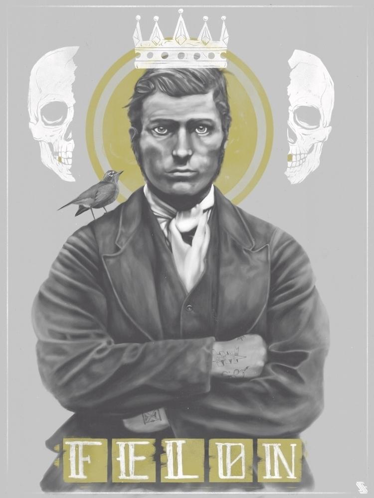 Selfsame Felon - skull, skulls, skeleton - jstoutillustration | ello