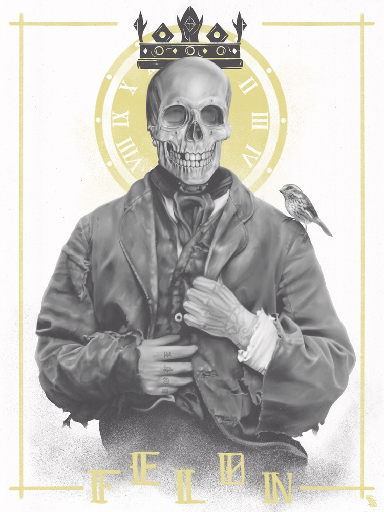 Wage ≠ Gift - skull, skulls, skeleton - jstoutillustration | ello