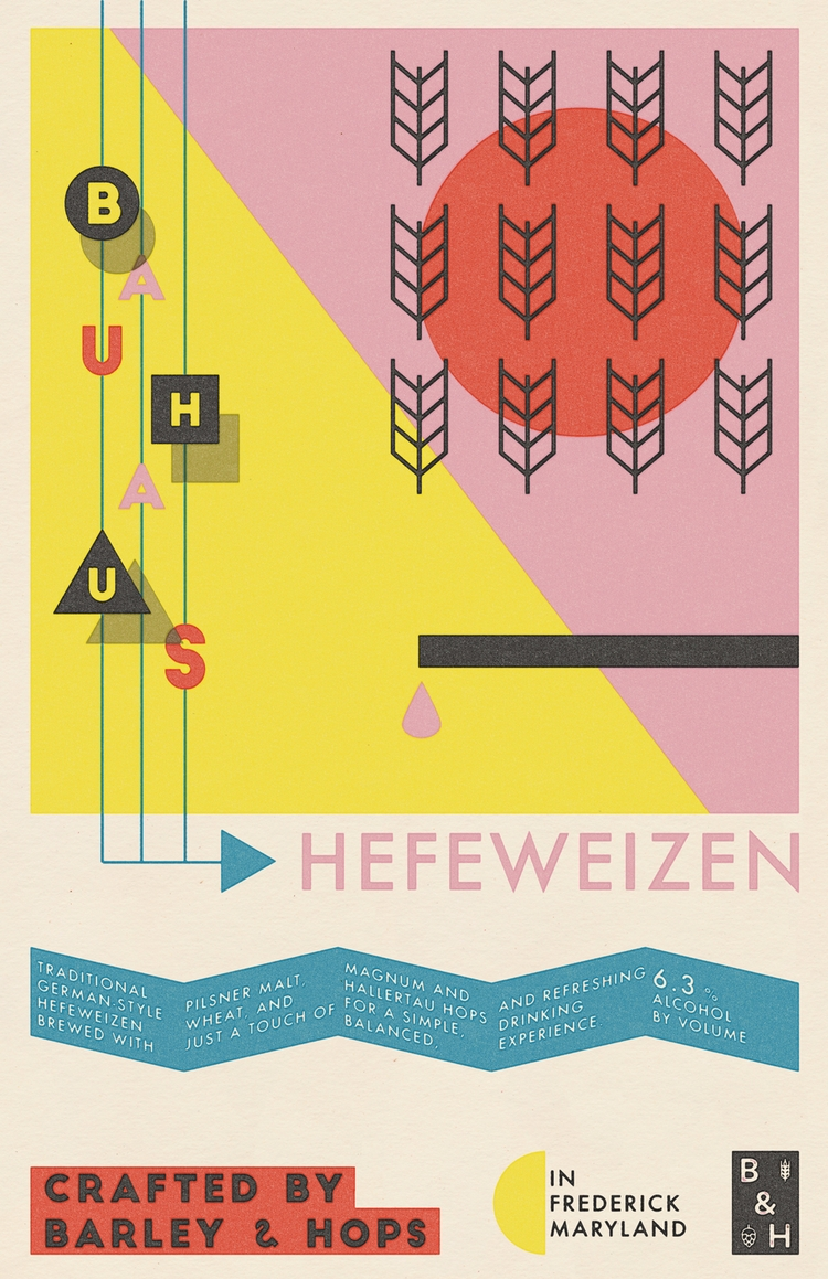 poster Bauhaus Hefeweizen - beer - bryanbaltz | ello