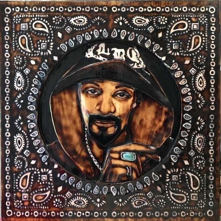 St. Snoop - 2017 30 inches - woodcarving - ziggysawdust | ello