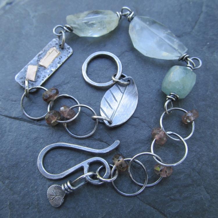 bracelet Aquamarine, Andalusite - artdi | ello