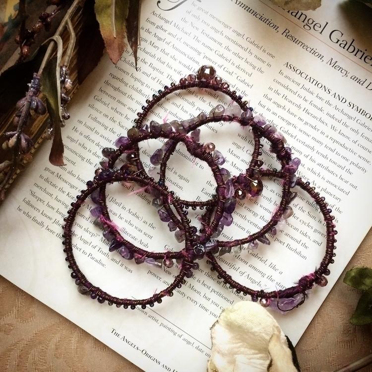 Pretty bohemian bangles purple  - amilliadesigns | ello