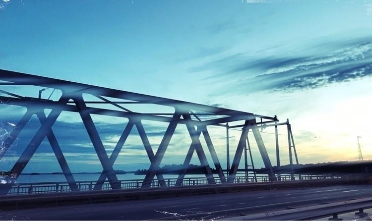 Bridge sunset - bike, night, road - yogiwod | ello