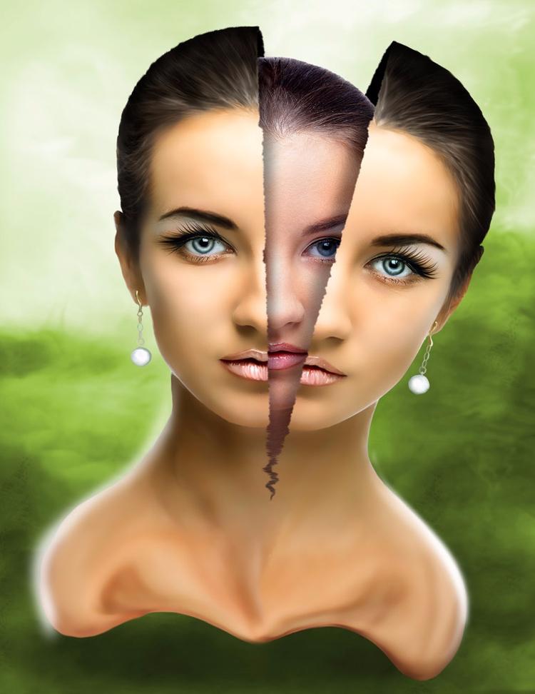 mask - photoshop, digitalart, paint - zepaulocreation | ello