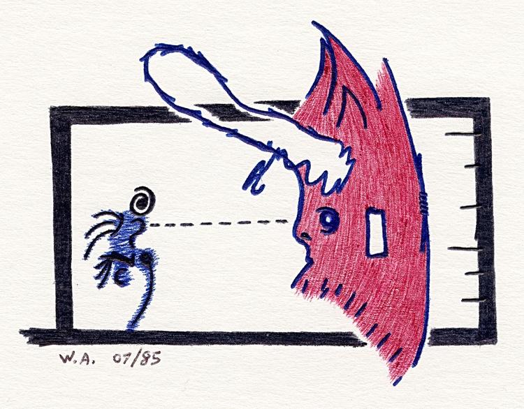 ballpoint pen drawing 1985 - surrealism - w_a_davison | ello