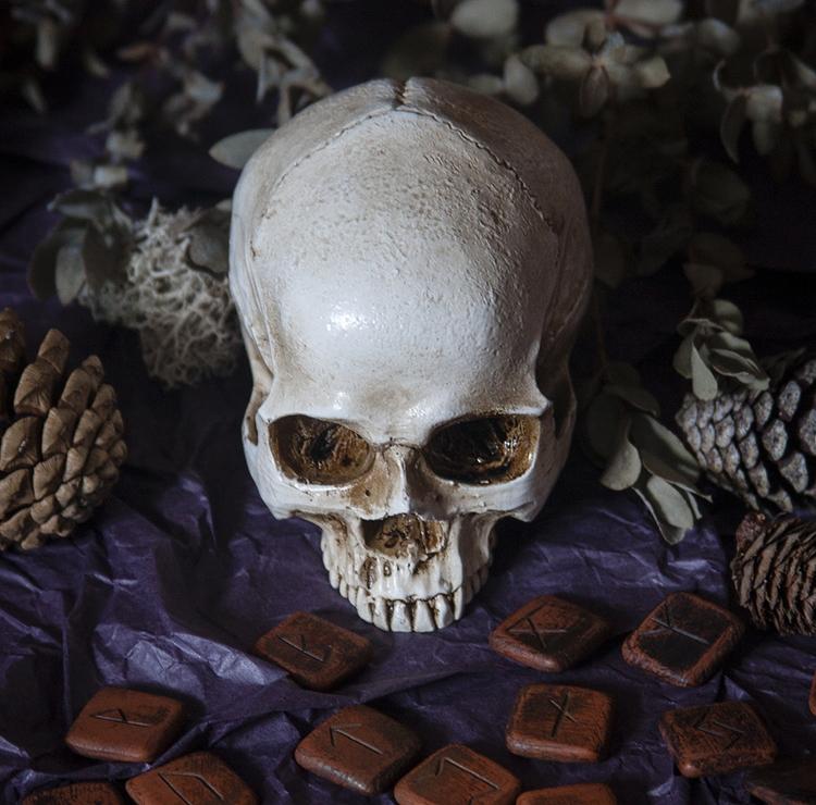skull, bones, runes, skeleton - dustyburrow | ello