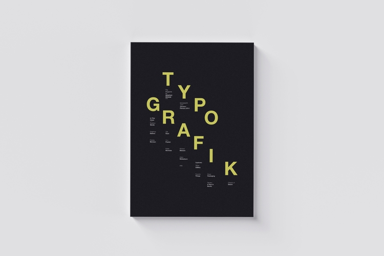 008 / Typografik Magazine Cover - mbdesign | ello