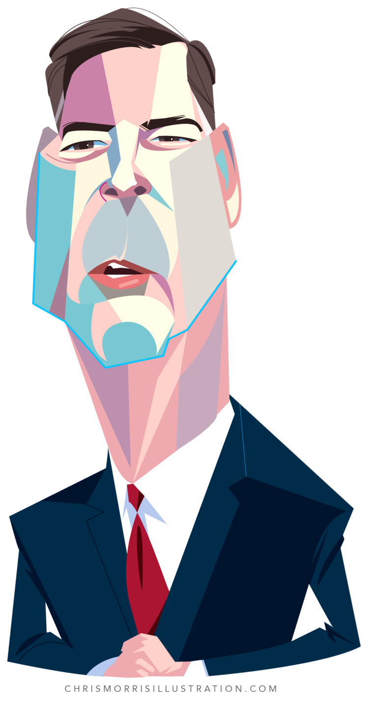 James Comey - illustration, caricature - cmorris | ello