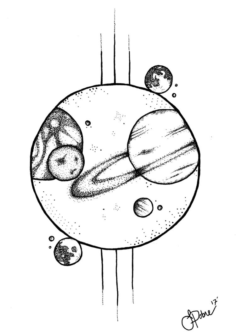 **13th Dimension - galaxy, planets - epiart | ello