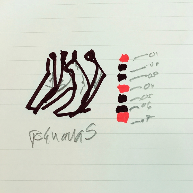 Bananas - art, sketch, drawing, minimalism - jkalamarz | ello