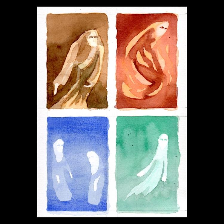 elements, watercolor, watercolour - ckrabbe | ello