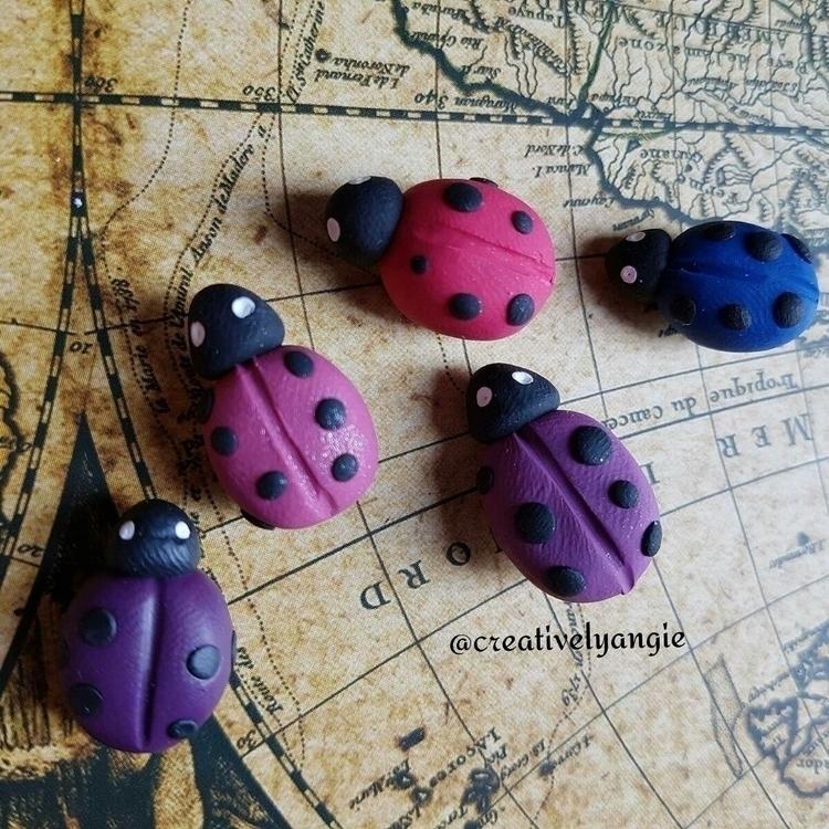 ladybug, magnet, polymerclay - creativelyangie | ello