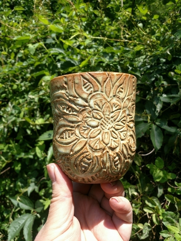 Whiskey sipper/ rocks cup:grinn - harmonyroadpottery | ello