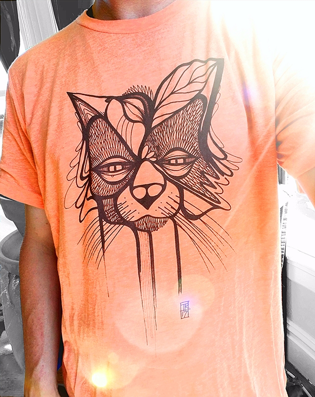 Cool Cat sizes. Heather Orange  - inkletterman | ello