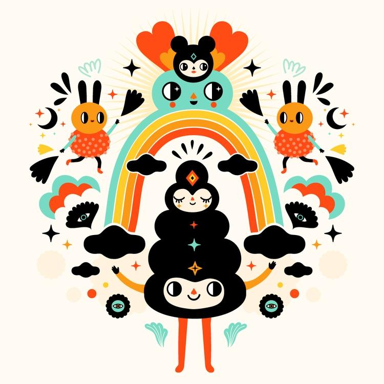 Rainbow Magic - illustration, vector - muxxi | ello