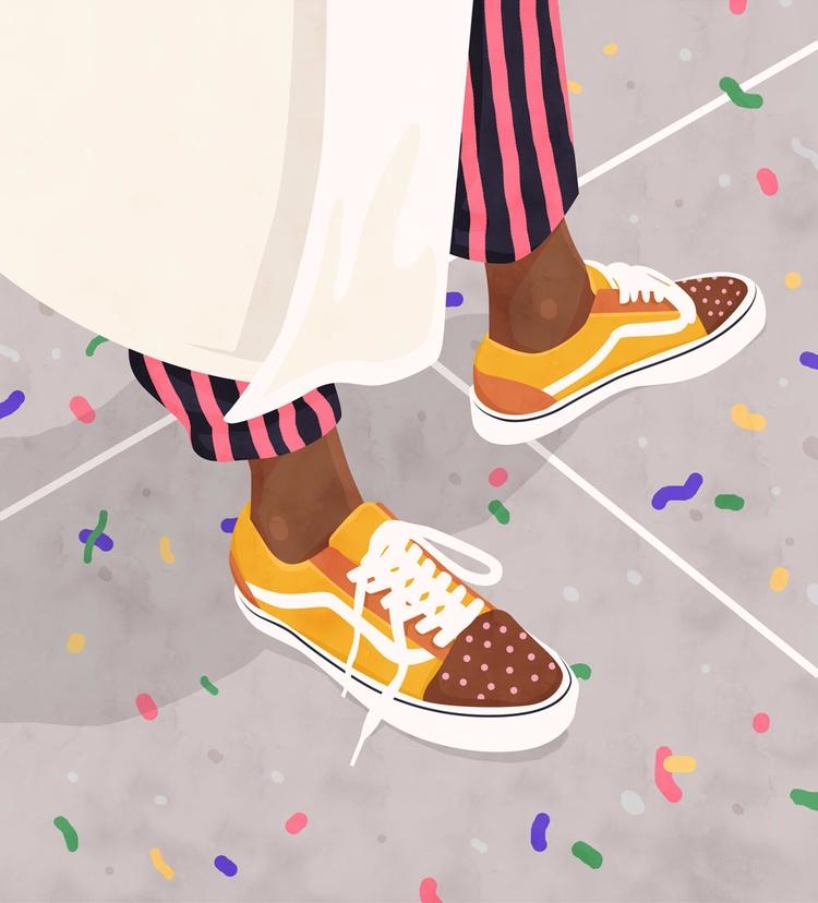 Colores del verano - sneakers, summer - petraerikssonstudio | ello