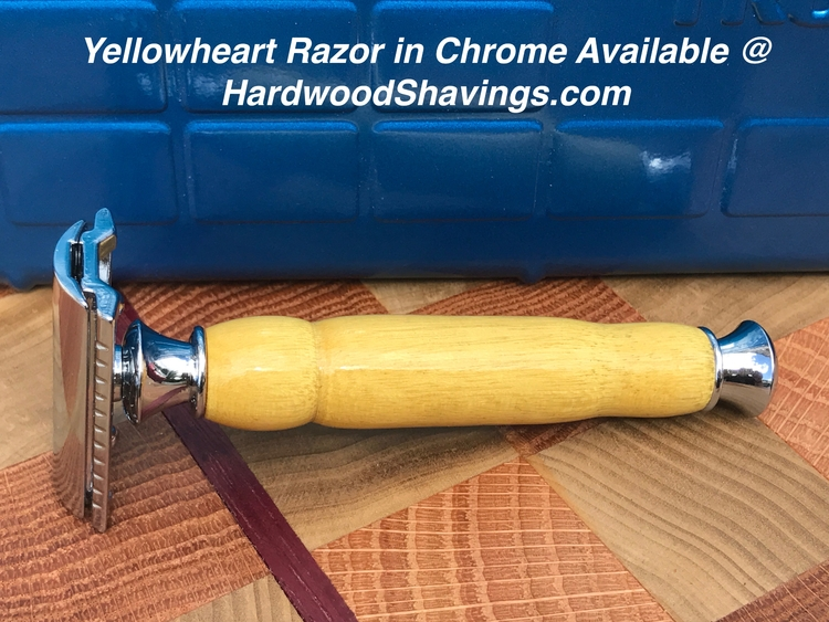 Chrome razor Yellowheart. favor - hardwoodshavings | ello