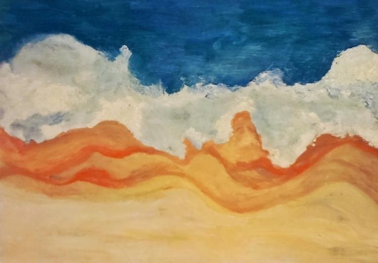 Aerial beach ///// oil paper -  - guiart | ello