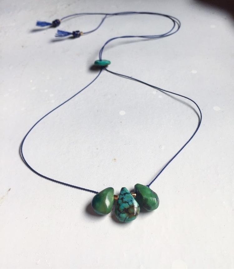 adjustable turquoise necklace w - thezendenshop_ | ello