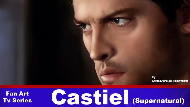 Castiel (Misha Collins) Portrai - rain_walker | ello