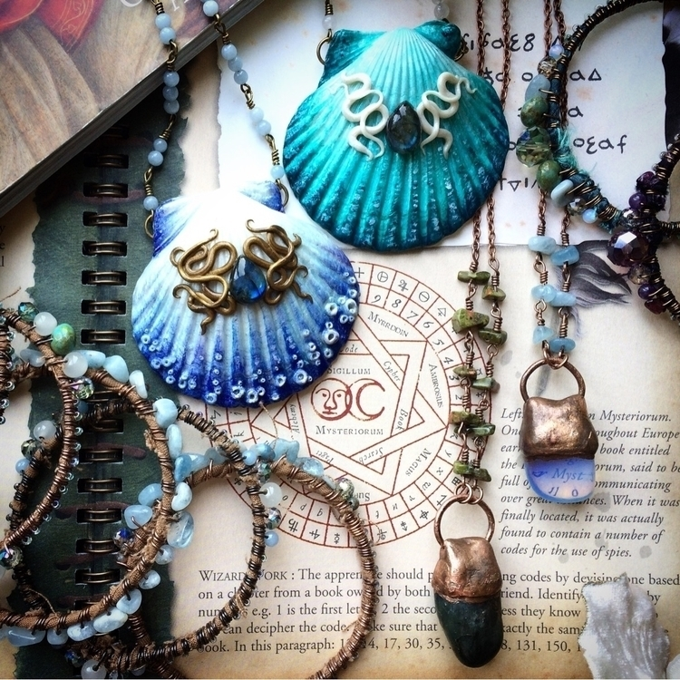 Shop update! time shell necklac - amilliadesigns | ello