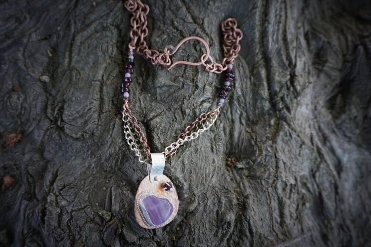 bought purple stone asked neckl - zombiebaby | ello