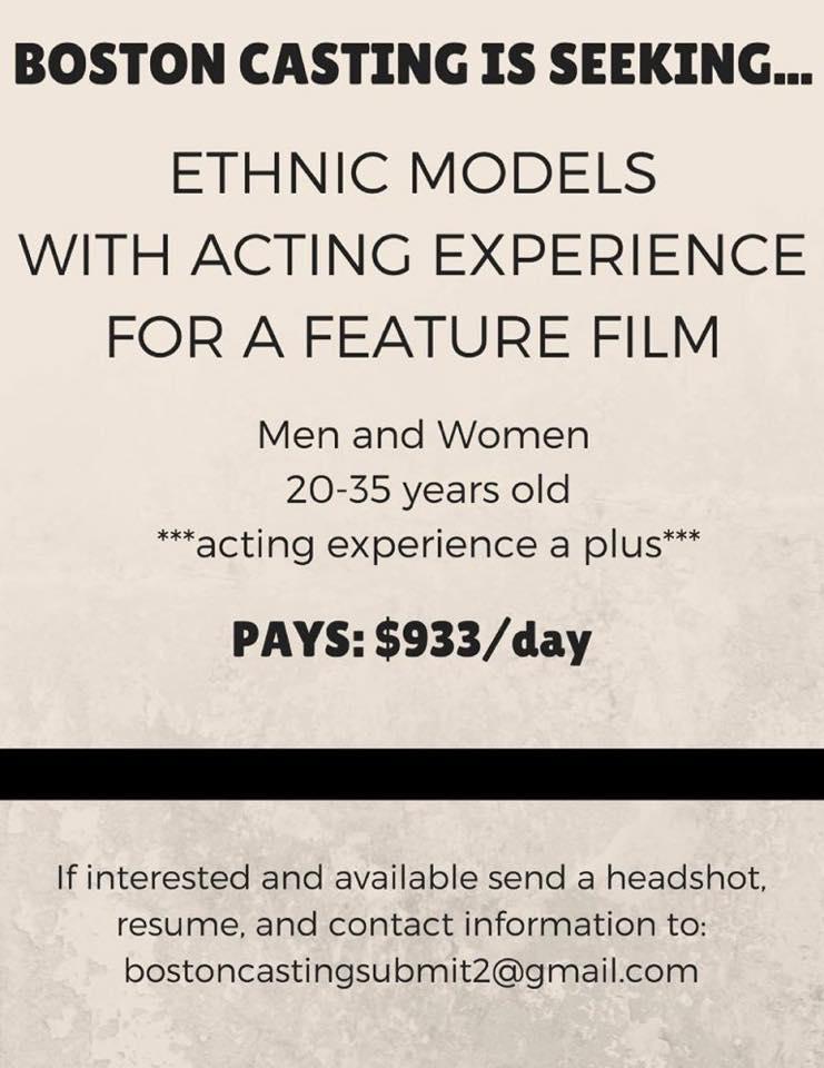 Boston Casting casting ethnic m - filmfreaks | ello