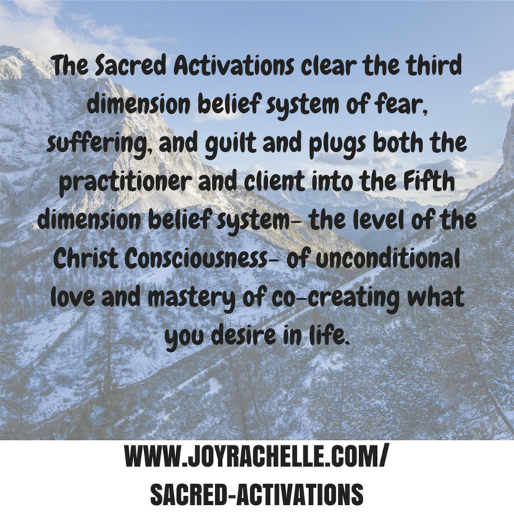 Sacred Activations clear 3D bel - joyrachelle | ello