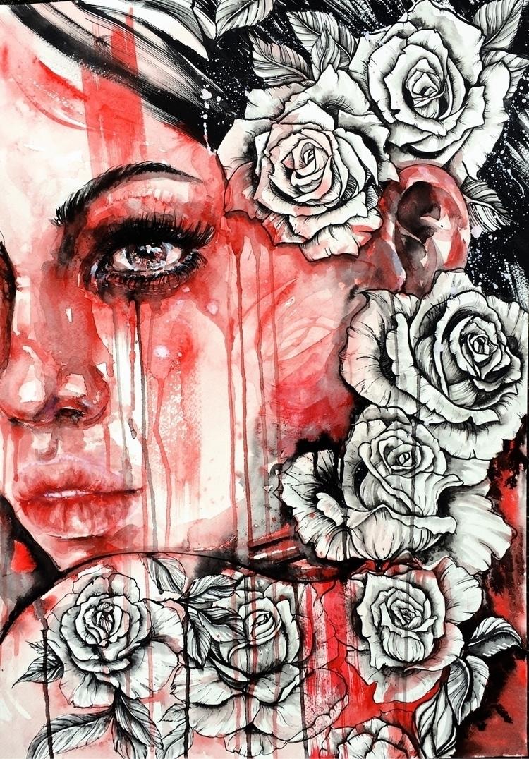 Rosé - fashionillustration, fashion - ibreathart | ello