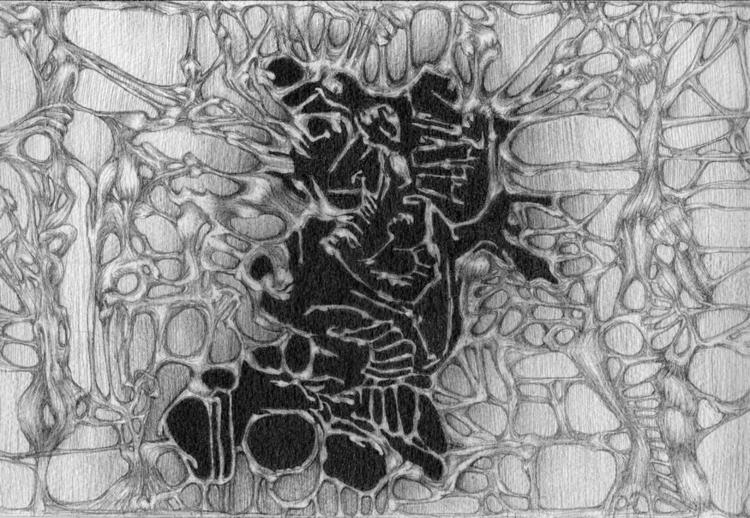 Tracery - Graphite Arches paper - spontaneousorder | ello